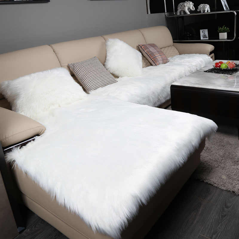 Magnificent Modern Style Pink Camel White Grey Long Fur Sofa Cover Plush Pdpeps Interior Chair Design Pdpepsorg