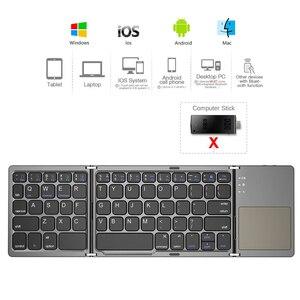 Image 2 - Avatto B033 Mini Opvouwbare Toetsenbord Bluetooth 5.0 Opvouwbare Draadloze Toetsenbord Met Touchpad Voor Windows,Android,ios Tablet Ipad Telefoon
