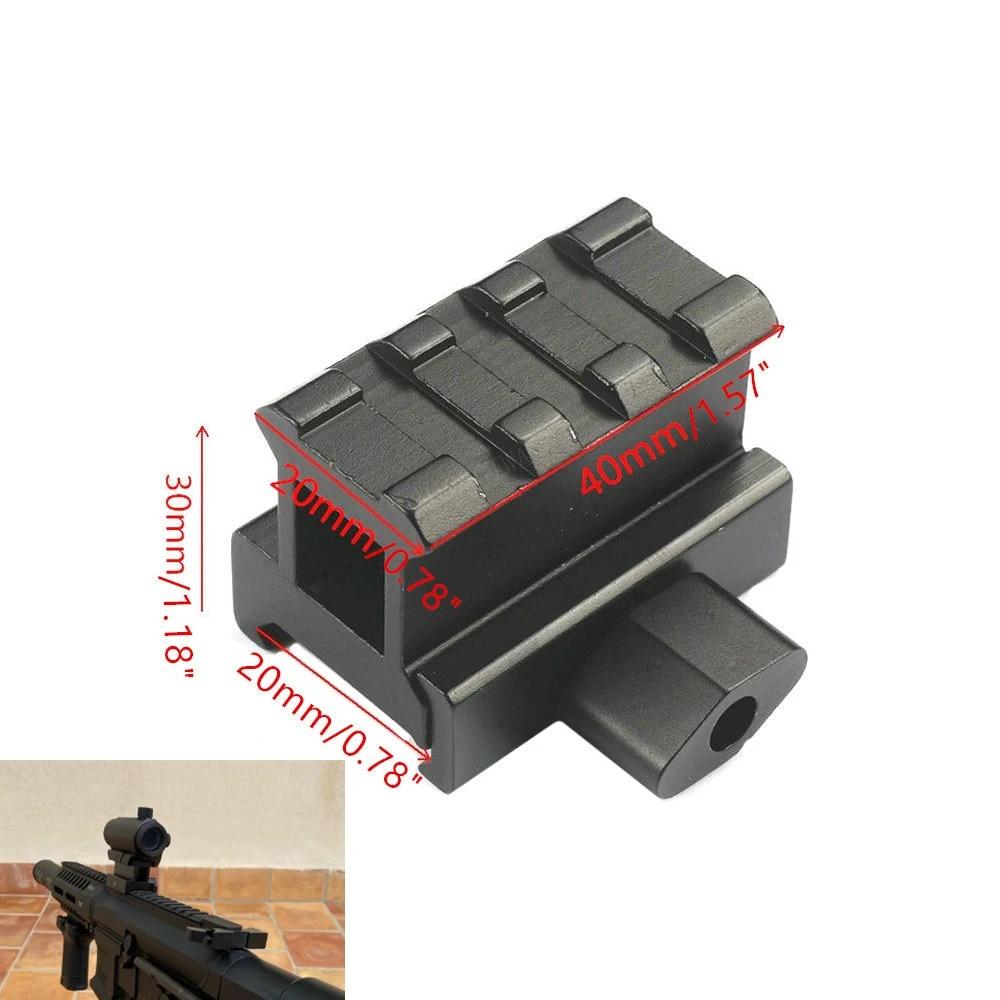 3 Slots Tactical 20mm Weaver Picatinny Mount Rail Rifle Scope Riser Adapter Base