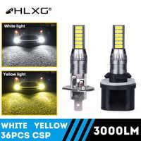 H27 H16 H11 880, 881, 9005, 9006 bombilla Led luz antiniebla de coche conducción día luces de rayo helado extremadamente brillante HLXG 12V 2pc