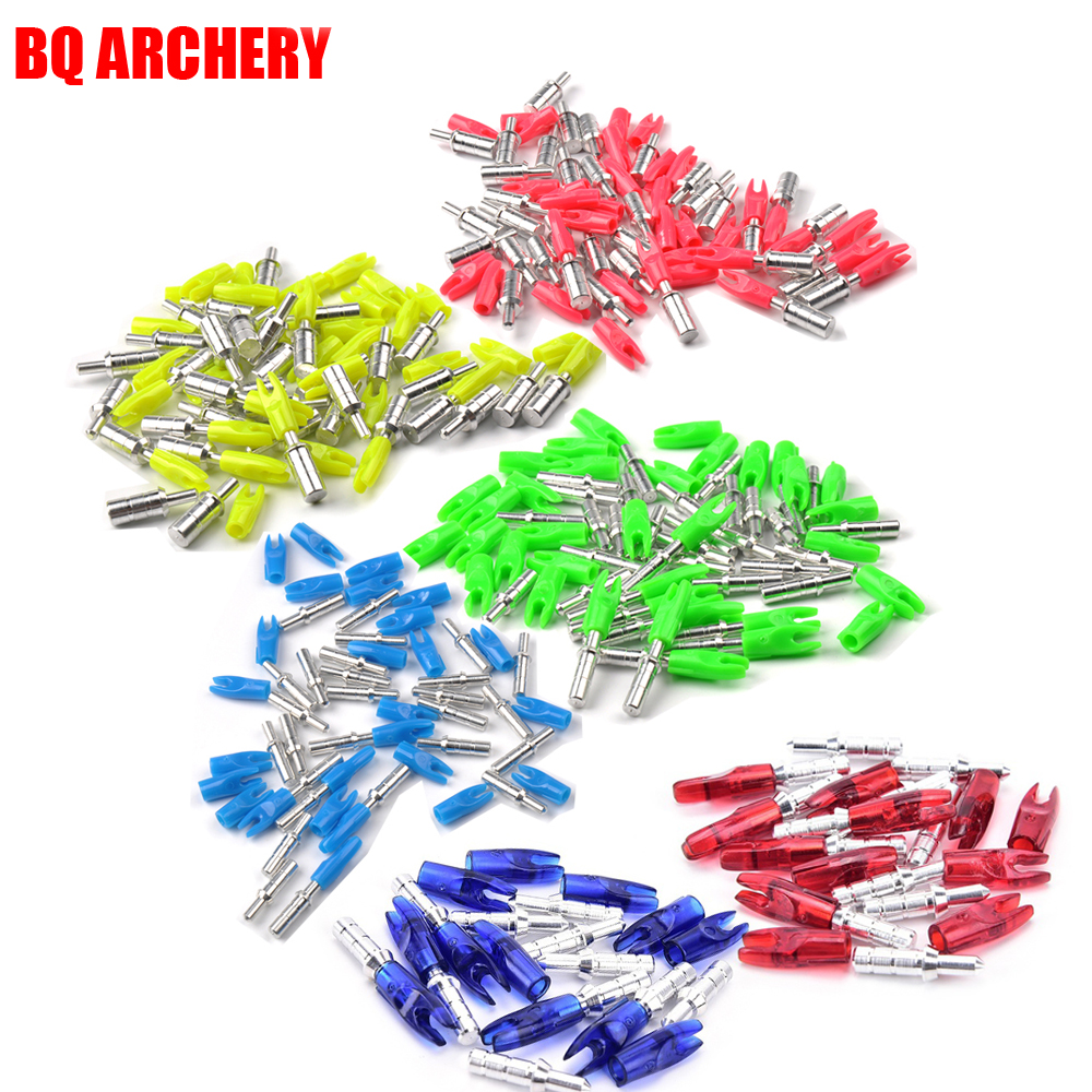 12Pcs Archery Arrow Nocks Pin Nock ID4.2mm DIY Accessories for Compound Recurve Bow <font><b>Crossbow</b></font> Shooting Archery Outdoor image