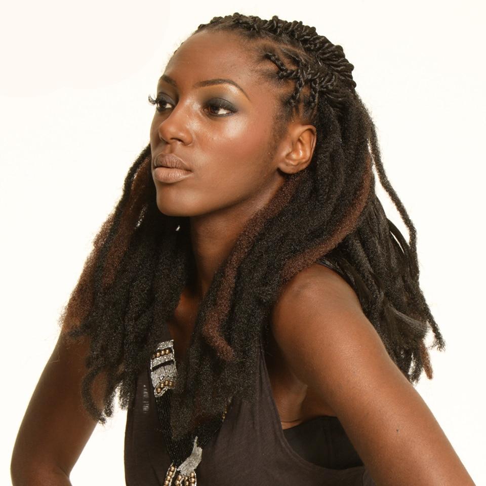 tranças ombre marrom afro cabelo extensões de