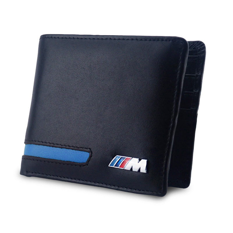Leather Logo Men Wallet Case Car Wallet Driver License Bag For BMW X5 F15 E90 F30 M E46 E36 E60 F30 F10 E39 E91 E92 E64 E65 X3