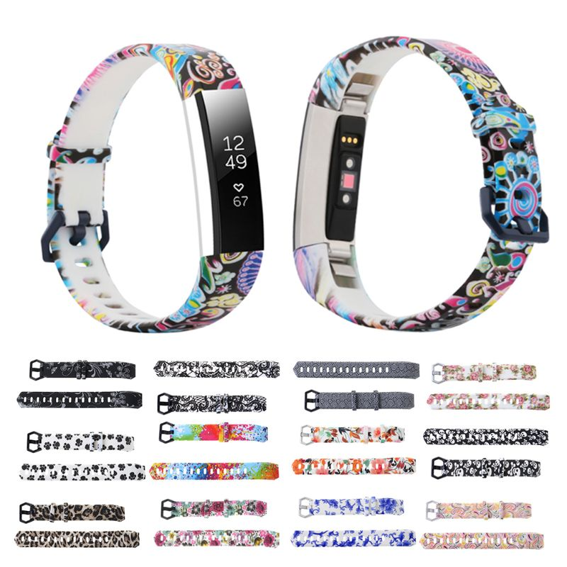 1pc Flower Pattern Watch Wristband Strap Watch Band Replacement For FitBit Alta/Alta HR Accessories