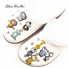 Обувь аксессуары одежда сумка, мультфильм обувь подвески аксессуары новинка Япония большой глаз животные обувь пряжка украшение дети вечеринка