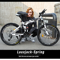 26 inch Men and Women Students spokes and integrated Bicycles 21 24 27 speed High Carbon Steel Variable Speed Light Bike