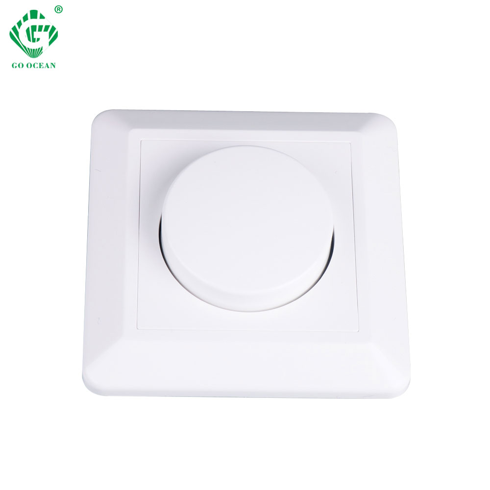 220V 230V 240V AC Led Triac Dimmer 200W Dimming Wall Mount Rotary Panel Manual Adjustable Brightness Controller For LED Lights