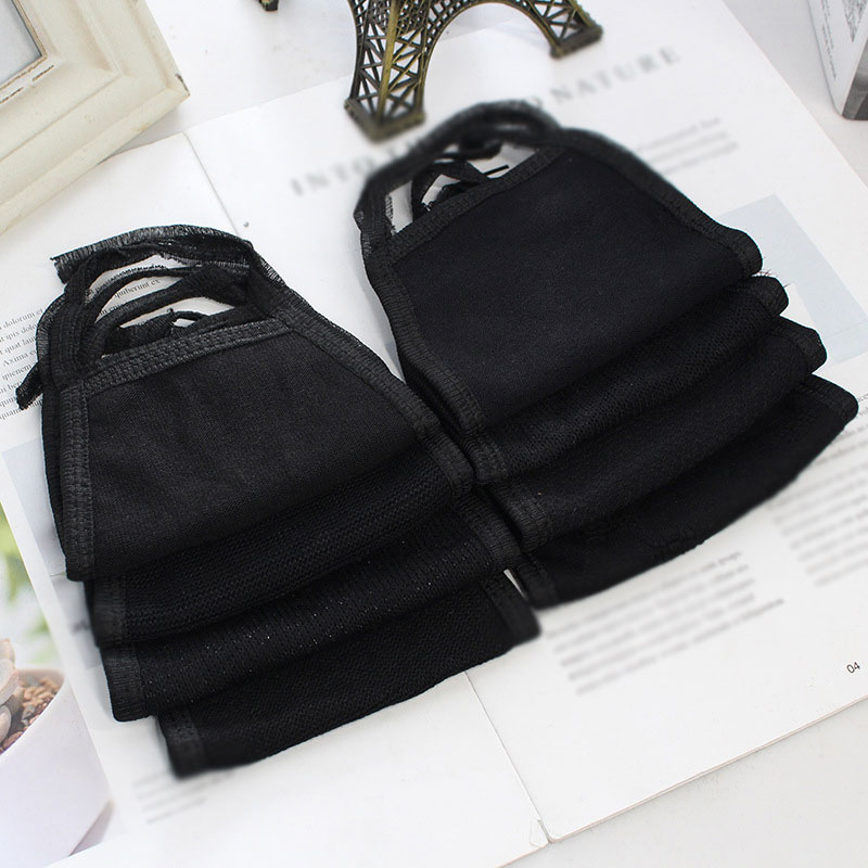 Cotton Black Mouth Mask Anti Dust Windproof Mouth-muffle Bacteria Face Care Winter Warm Reusable Women Men