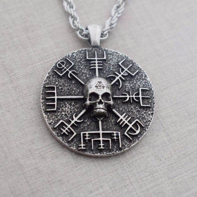 NORSE VIKINGS GEAR SKULL NECKLACE