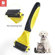 Kimpets Hair Removal Comb for Dogs Cat Detangler Fur Trimming Dematting Deshedding Brush