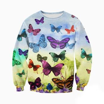 All Over Printed Colorful Butterfly Hoodie 1