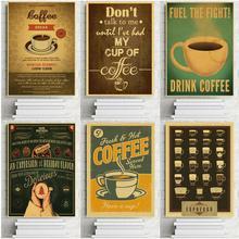 Cartel Retro de Papel Kraft para Bar, café, cocina, decoración de la pared, decoración de la sala de estar, Pub, decoración de la pared