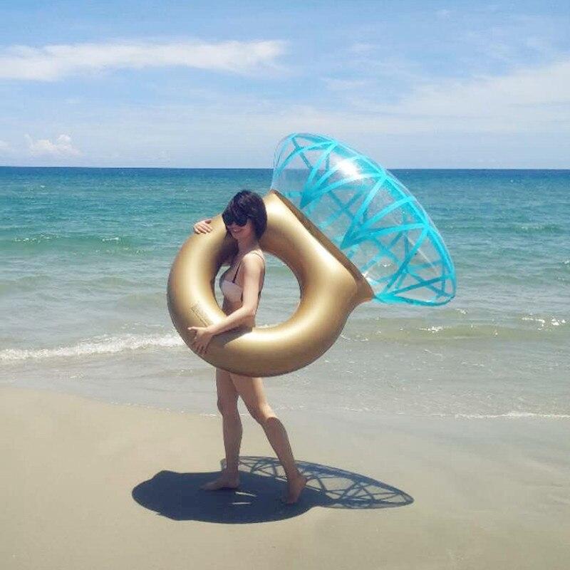 """גלגל בריכה בצורת טבעת יהלום ענק 140 ס""""מ 6"""