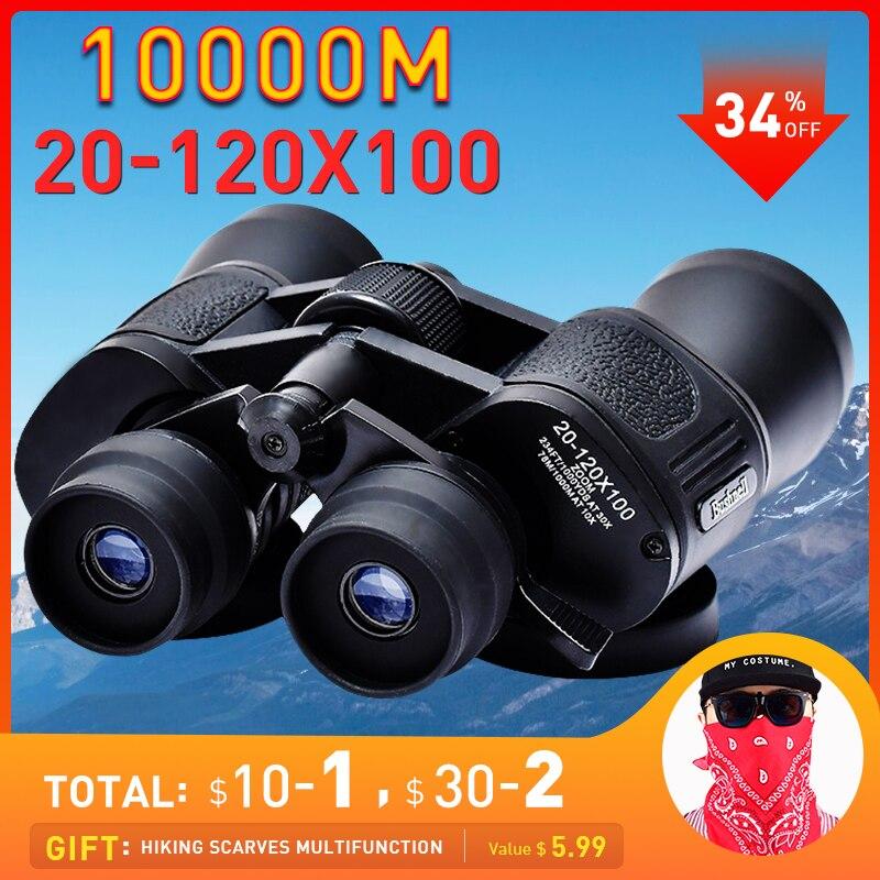 20-120X100 Telescope Binoculars Professional Powerful Binoculars Hunting Military Binoculars Zoom Telescope