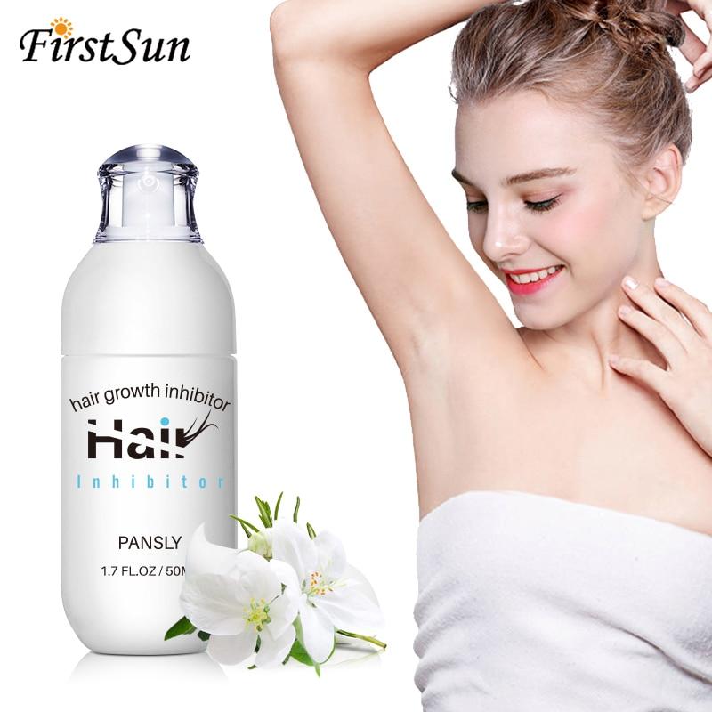 50ml Newst Unisex Pansly Natural Hair Growth Inhibitor Cream Spray Hair Removal Cream Body Legs Armpit Painless Facial Stop Hair