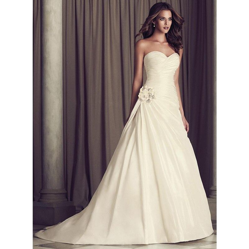 Vestidos De Noiva Limited Real Off The Shoulder Pleat Wedding Dress 2015 Autumn Winter Dresses For Brides Satin For Chapel Train