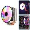 Cooling Fan Radiator Heatsink CPU 2/4/6 Heat Pipes Desktop PC Case RGB Cooling Fan for AMD Intel LGA