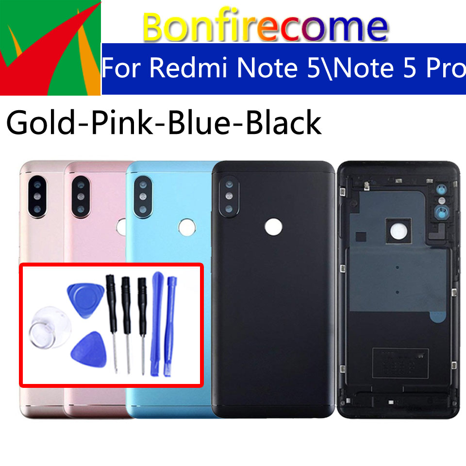 Battery Back Cover For Xiaomi Redmi Note 5 Back Battery Door Rear Housing Cover For Redmi Note 5 Pro Case Chassis Replacement