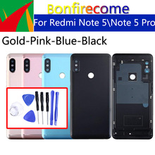 Battery Back Cover For Xiaomi Redmi Note 5 Back Battery Door Rear Housing Cover For Redmi Note 5 Pro Case Chassis replacement srhe for xiaomi redmi note 6 case coverfor redmi note 6 pro vintage cloth fabric soft silicone full back cover for redmi note 6