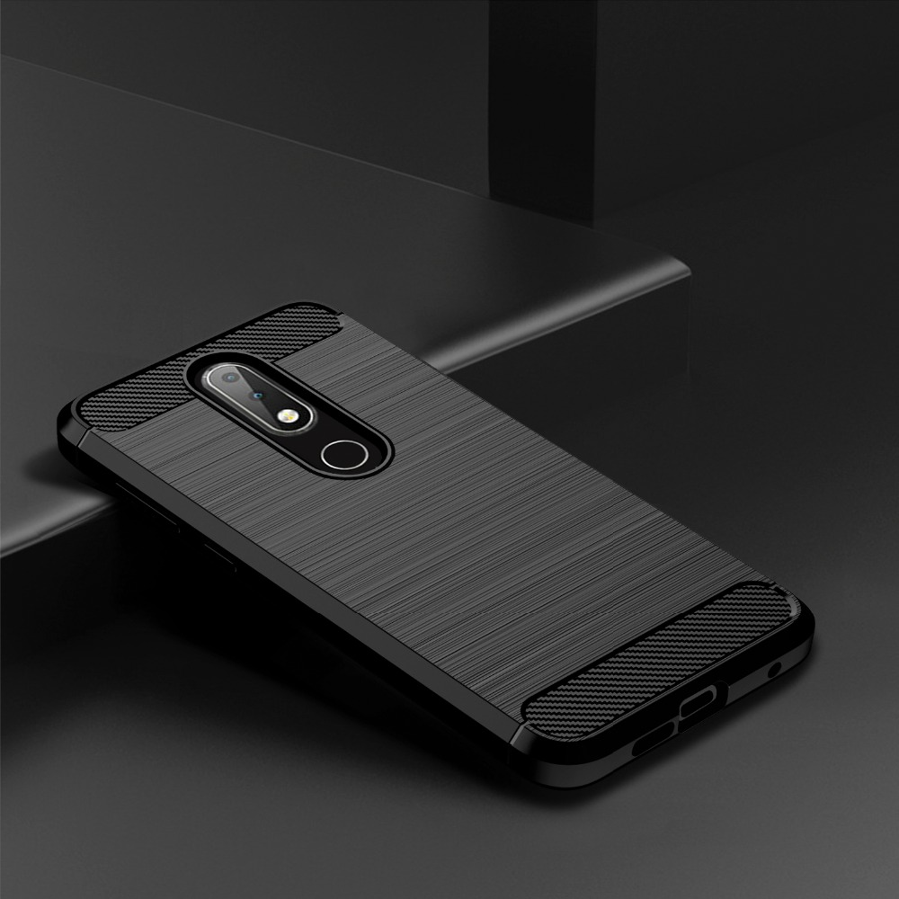 Brushed Case For Nokia 2.4 3.4 3.2 5.3 6.1 7.1 8.1 5.4 3.1 1.4 5.1 Plus 8.3 2.3 5 X20 X10 X7 7.2 7 8 4.2 8.3 Cover Carbon Case