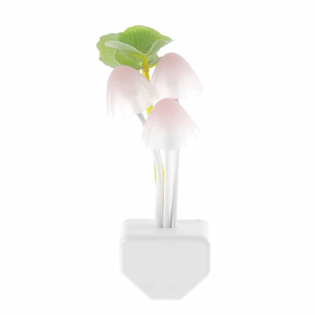 Mini LED 7 Kleur Licht Sensor Paddestoel Nachtlampje Lamp Gift Thuis Verlichting Licht Verlichting US Plug 220 V