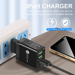 2.4A  USB Charger Fast Charging PD20W+QC3.0 EU/US Fast Charger Dual USB Ports Phone Charger Quick Charge Tablet Charging Adapter