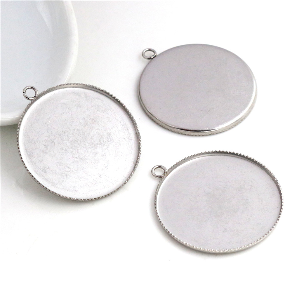 Never Fade 10pcs Fit 30mm Cabochons Stainless Steel Tooth Cameo Setting Cabochon Base Copper High Quality Blank Tray Bezel-T7-36
