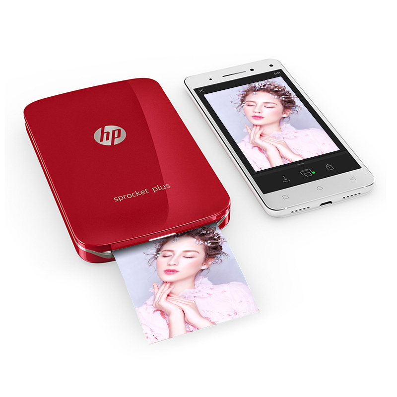 MIni Pocket Photo Printer Mobile Phone HP Sprocket Plus Mobile Bluetooth Portable Pocket Color Photo Printer Home Mini Portable