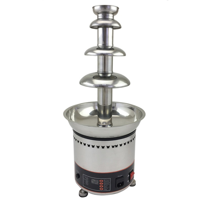 110V/220V Commercial Stainless Steel Electric Chocolate Fountain 4 Tiers 58cm Home Party Company Using Chocolate Machine