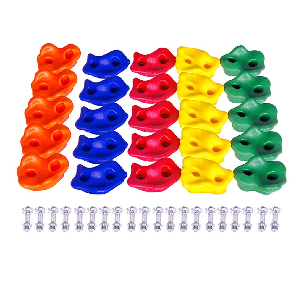10Pcs Kids Climbing Wall Grips Climbing Rock Wall Stones Hand Feet Holds Grip Gymnastic Fitness Tool With Screws