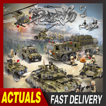 XINGBAO Military Technic Building Blocks WW2 Military Tank Army Soldiers Figures Weapon parts Bricks Fit For Boy Toy Gifts xingbao moc military technic series axis panthet tank model building blocks sets chariot army ww2 soldiers diy bricks kids toys