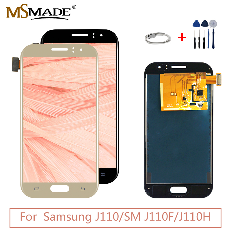 For <font><b>Samsung</b></font> Galaxy J110 <font><b>LCD</b></font> Display Touch Screen Panel Digitizer Assembly Parts For <font><b>Samsung</b></font> <font><b>J1</b></font> <font><b>Ace</b></font> J110 SM-J110F J110H <font><b>LCD</b></font> image