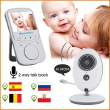 2.4 Cal bezprzewodowy LCD Audio wideo niania elektroniczna Baby Monitor niania muzyki domofon IR przenośny aparat dla dzieci Walkie Talkie opiekunka do dziecka VB605