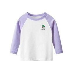 Новинка 2020, футболка с длинным рукавом для девочек в Корейском стиле, новинка для весны и осени, Базовая рубашка, одежда, топы для девочек, ни...
