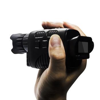 HD widzenie nocne z wykorzystaniem podczerwieni urządzenie monokularowa kamera noktowizyjna odkryty teleskop cyfrowy z dniem i nocą podwójnego zastosowania do polowania tanie i dobre opinie Full black viewing distance 250~300 meters 24mm digital zoom 4 times Infrared light 3W CN (pochodzenie) Monokularowy IPX6