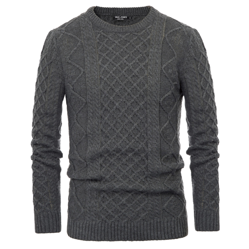 Classic Casual Sweater Men Autumn Winter Basic Warm Tops Stylish Thicken Pullover Sweater Knitwear Long Sleeve Crew Neck Top