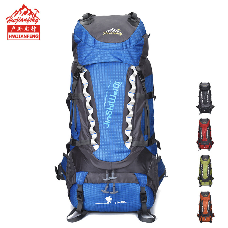 Обработка настраиваемый водонепроницаемый большой емкости уличный для пешего туризма альпинизма спортивный рюкзак путешествия нейлоновы...