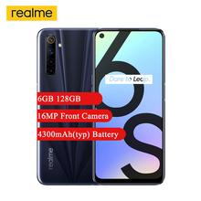 Realme 6s Smartphone 6 5 #8221 FHD + wyświetlacz MediaTek Helio G90T octa-core 6GB 128GB 48MP aparat 4300mAh Android 10 telefon komórkowy z NFC tanie tanio Nie odpinany CN (pochodzenie) Rozpoznawania linii papilarnych Rozpoznawania twarzy Do 120 godzin SuperCharge VOOC Smartfony
