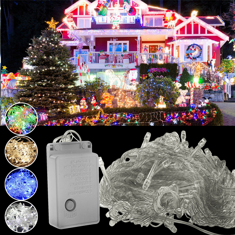 300LEDs String Lights LED US Plug 30M Copper Wire Fairy Christmas Tree Light With Controller Twinkle Lights For Wedding Party