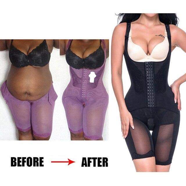 Frauen Abnehmen Full Body Shaper Korrigierende Unterwäsche Shapewear Bauch steuer Höschen Unterbrust Taille Korsetts Bodysuit Hüftgürtel