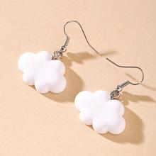 Cute White Cloud Stud Earrings Delicate Clouds for Women Girls Ear Jewelry Gift Wholesale Gifts cheap Zinc Alloy CN(Origin) Trendy Fashion clouds earrings Drop Earrings Geometric Acrylic