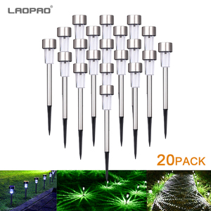 Outdoors Led Solar Lights Outdoor Solar Led Lawn Lamps Street Lighting Luminaria For Garden Decoration Solar Powered Path Lights(China)