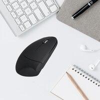 2.4G Sem Fio Vertical Mouse Ergonômico Mão Esquerda USB Mouse Óptico Left-Handed Ajustável 800/1200/1600 DPI