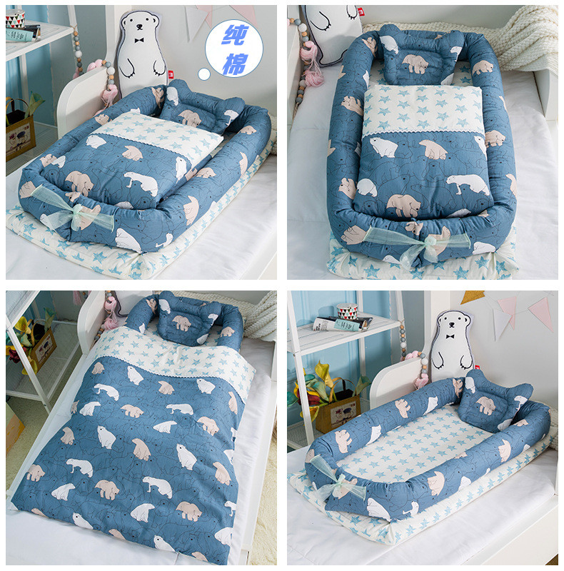 New Style Bed Pressure-proof Baby Bed In Bed In Bed New-born Foldable Portable Bionic Bed Bb Baby Travel Bed