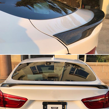 Use For BMW X6 F16 Spoiler 2015--2019 Year Real Glossy Carbon Fiber Rear Wing Sport Body Kit Accessories image