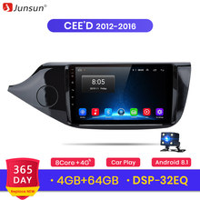 Junsun 4G + 64G Android 9.0 4G Auto Radio Multimedia Video Player Navigatie GPS 2 din Voor KIA cee CEED JD 2012 2013-2016 geen dvd(China)