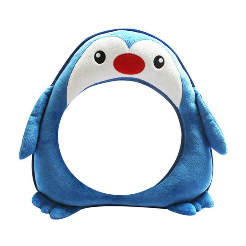 Cartoon 360 Degrees Adjustable Baby Car Back Seat Mirror Kids Infant Safety View Monitor Baby Safety Products Soft Comfortable
