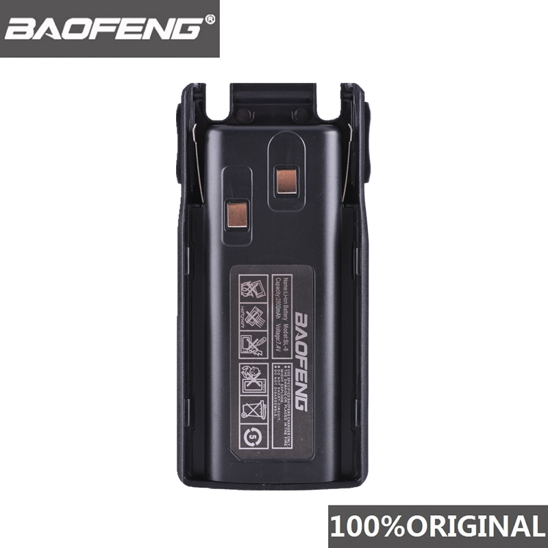 100% Original Baofeng UV-82 UV-8D Li-ion Battery 2800mAh BL-8 For Two Way Radio Walkie Talkie UV8D UV 82 Accessories Pofung UV82