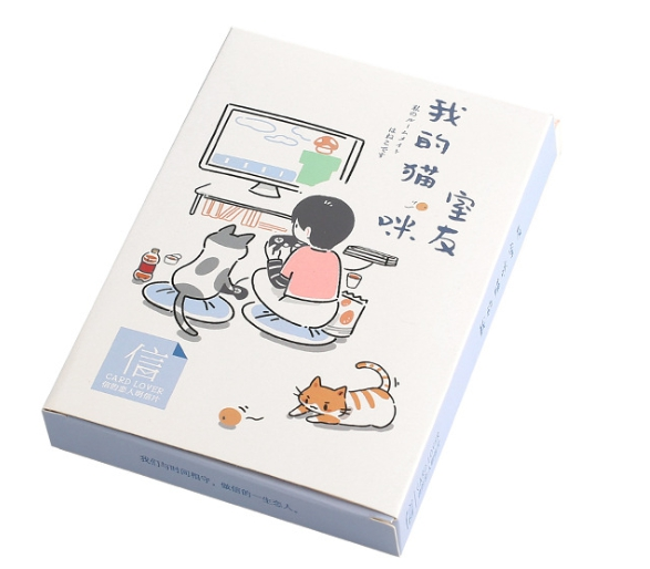 A91- Cat Mate Paper Postcard(1pack=30pieces)