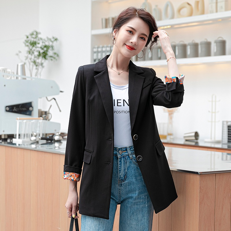 Temperament office jacket feminine High quality solid color slim single-breasted women's blazer 2020 spring and autumn clothes